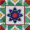 Mexican Tile Navy Blue Flower