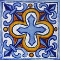 Mexican Tile Sky Blue Cross