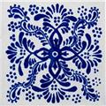 Mexican classic blue white tile Chapala