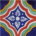 hand painted Mexican ceramic tile