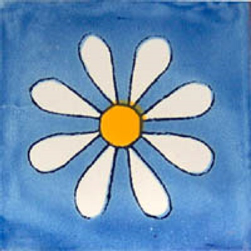 mexican blue tile amapola
