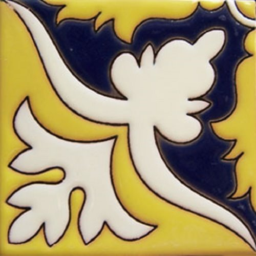 Handcrafted Relief Tile Magali
