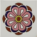Handmade Relief Tile Pink Flower