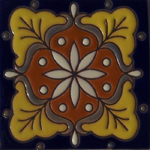 Handcrafted Relief Tile Irene