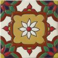 Handmade Relief Tile White Flower