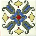 Handmade Relief Tile Snow White Bellflower