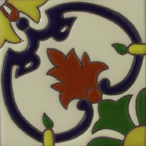 Handcrafted Relief Tile Fleur of Lis