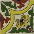 Hand Painted Relief Tile Swamp Flower