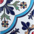 Hand Painted Relief Tile Dimorphoteca Flower