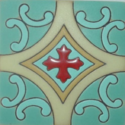 Artisan Produced Relief Tile Red Cross