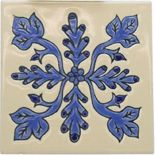 Artisan Produced Relief Tile Valeria