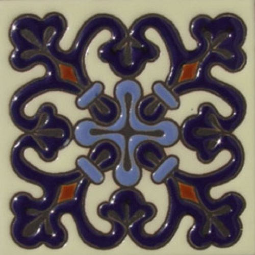 Hand Painted Relief Tile Gabriela