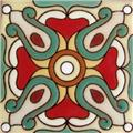 Hand Painted Relief Tile Fernanda
