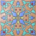 Handcrafted Relief Tile Renata