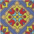 Hand Painted Relief Tile Azucena