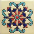 Hand Painted Relief Tile Valentina