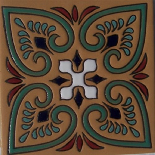 Handcrafted Relief Tile Wildflower