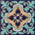 Hand Painted Relief Tile Regina