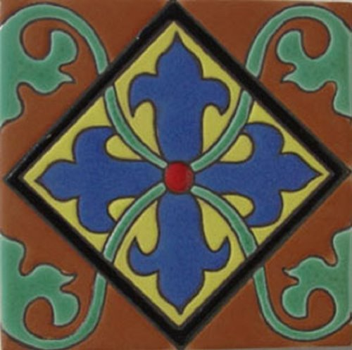 Handmade Relief Tile Alcantara Cross