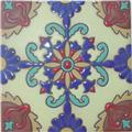 Handcrafted Relief Tile Exotic Flower