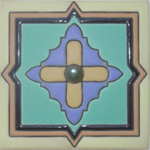 Artisan Produced Relief Tile Framed Cross
