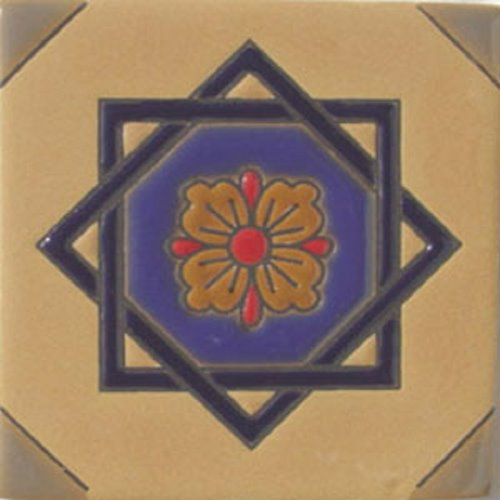 Handcrafted Relief Tile David's Star