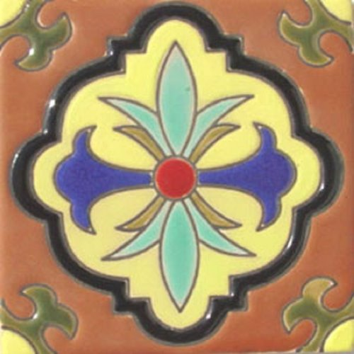Artisan Produced Relief Tile Anastasia