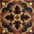 Hand Painted Relief Tile Paulette