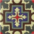 Handmade Relief Tile Spiny Cross