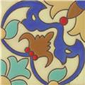 Handcrafted Relief Tile Floral Cross