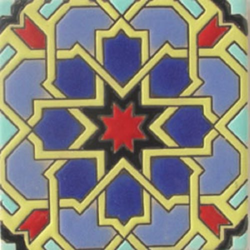 Handcrafted Relief Tile Red Star