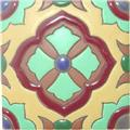 Hand Painted Relief Tile Denisse
