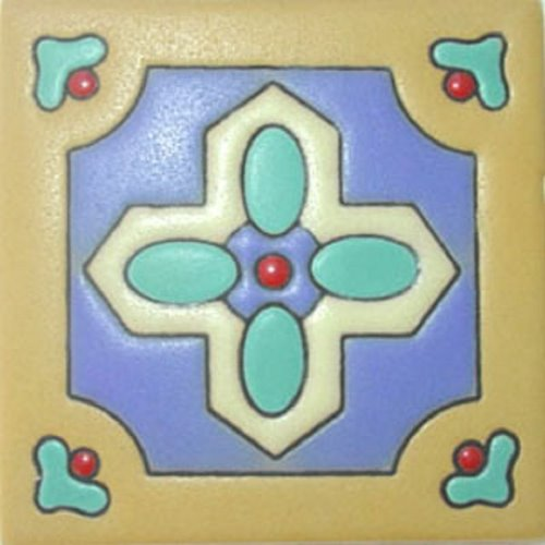Hand Painted Relief Tile Dafne