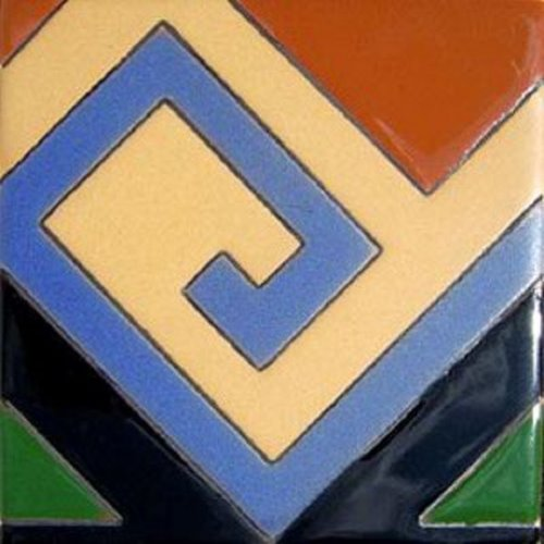 Artisan Produced Relief Tile Geometric Lines