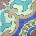 Hand Painted Relief Tile Grace