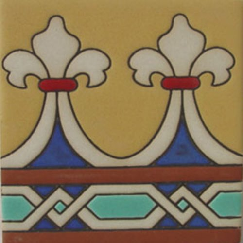 Hand Painted Relief Tiles Ernesto