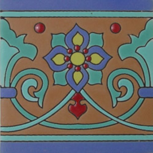 Artisan Produced Relief Tiles Nice Flower