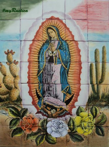 talavera kitchen tile mural