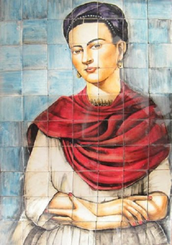 kitchen tile mural Frida Kahlo