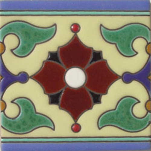 hand painted relief tiles Evaristo