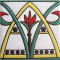 hand painted relief tiles Rodrigo