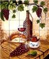 kitchen tile mural Wicker Bottle
