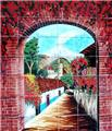 kitchen tile mural Beautiful Archway