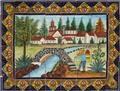 ceramic tile mural made Arch Bridge