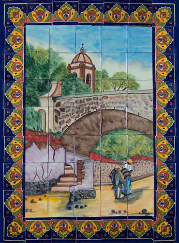 ceramic tile mural Bridge