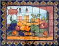 ceramic tile mural Wine and Fruit