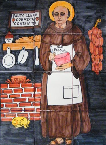 kitchen tile mural San Pascual Bailon