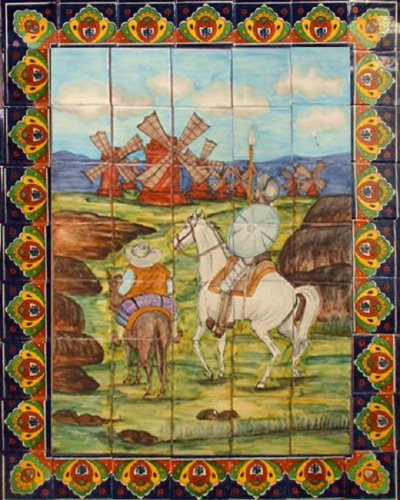 ceramic tile mural Windmills