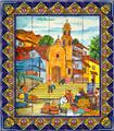 ceramic tile mural Traditional Church