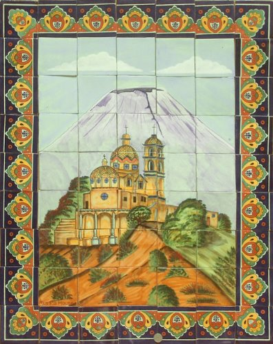 Large Tile Mural with Sanctuary of the Virgin
